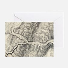 Vintage Map of Harpers Ferry (1863) Greeting Card