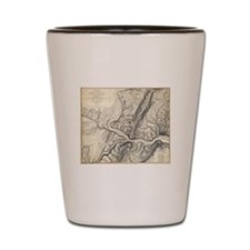 Vintage Map of Harpers Ferry (1863) Shot Glass