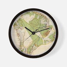 Vintage Map of Hawaii Island (1906) Wall Clock