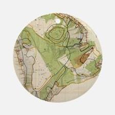 Vintage Map of Hawaii Island (1906) Round Ornament