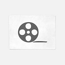 movies film 120-Sev gray 5'x7'Area Rug