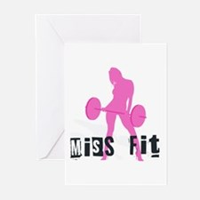 Miss Fit Chick Greeting Cards (Pk of 10)