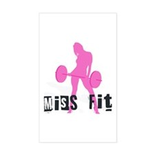 Miss Fit Chick Rectangle Decal