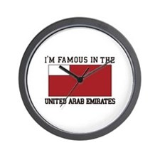 I'm famous in the united arab emirates Wall Clock