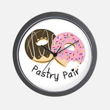 Pastry Pair Wall Clock
