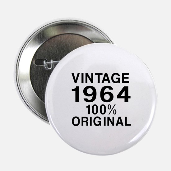 """Vintage 1964 Birthday Designs 2.25"""" Button"""