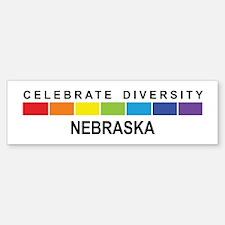 NEBRASKA - Celebrate Diversit Bumper Bumper Bumper Sticker