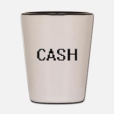 Cash digital retro design Shot Glass