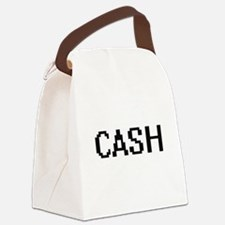 Cash digital retro design Canvas Lunch Bag