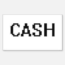 Cash digital retro design Decal