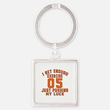 05 Birthday Designs Square Keychain