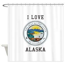 I Love Alaska Shower Curtain