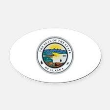 Alaska State Seal Oval Car Magnet