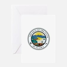 Alaska State Seal Greeting Cards
