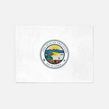 Alaska State Seal 5'x7'Area Rug