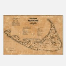 Vintage Map of Nantucket  Postcards (Package of 8)