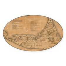 Vintage Map of Nantucket (1869) Decal