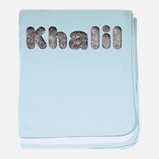 Khalil Wolf baby blanket