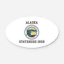 Alaska Statehood 1959 Oval Car Magnet