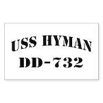 USS HYMAN Sticker (Rectangle)