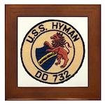 USS HYMAN Framed Tile