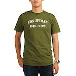 USS HYMAN Organic Men's T-Shirt (dark)