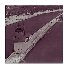 Holland Harbor Lighthouse Tile Coaster