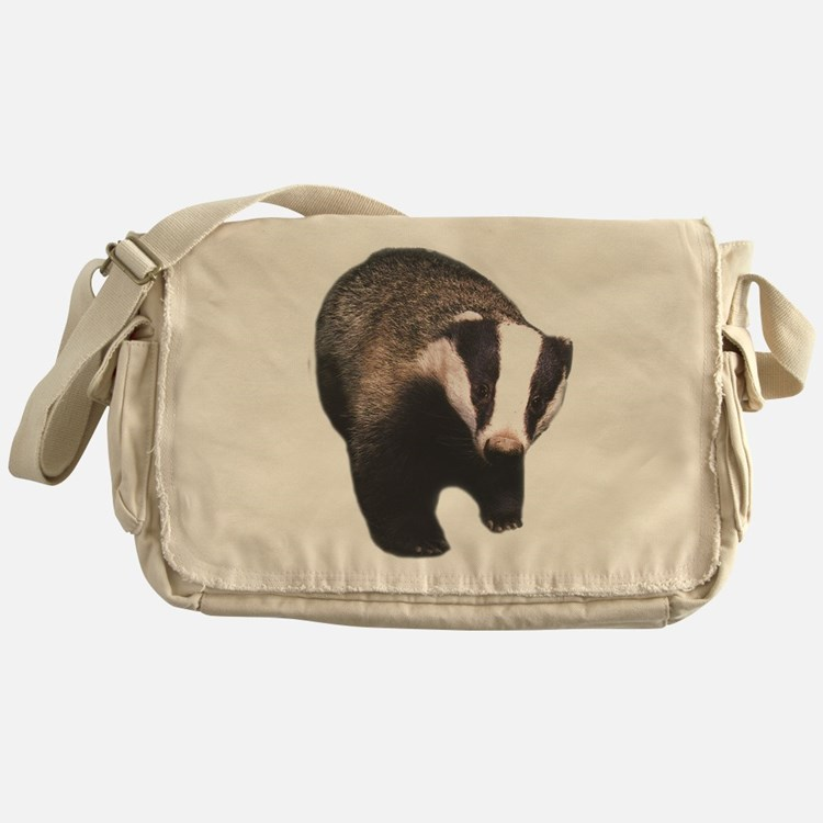 Cute Badger Messenger Bag