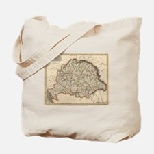 Vintage Map of Hungary (1817) Tote Bag
