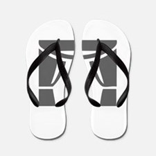 movies film 80-Sev gray Flip Flops