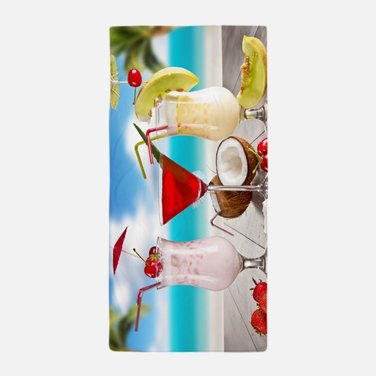 Exotic Summer Cocktails Beach Towel