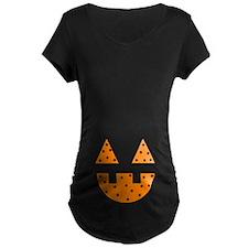 Halloween Pumpkin Face Maternity T-Shirt