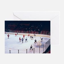 Vintage Ice Hockey Match Greeting Card