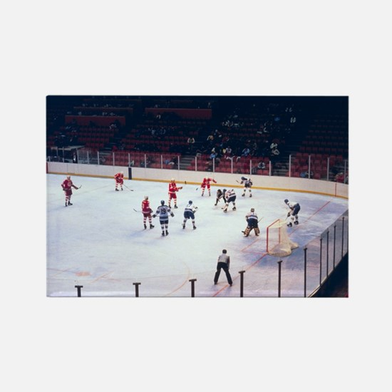 Vintage Ice Hockey Match Rectangle Magnet