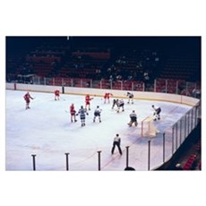 Vintage Ice Hockey Match Framed Print