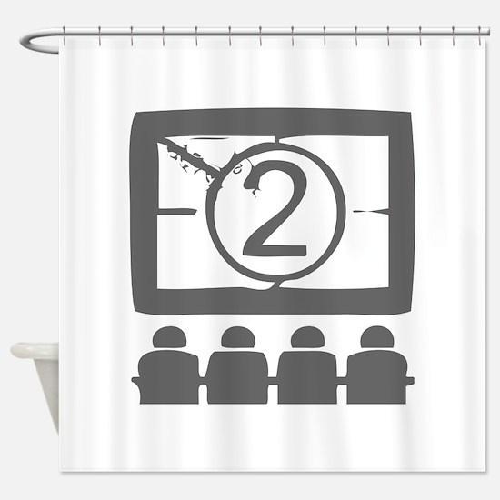movies film 94-Sev gray Shower Curtain