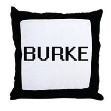 Burke digital retro design Throw Pillow