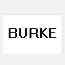 Burke digital retro desig Postcards (Package of 8)
