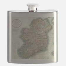 Vintage Map of Ireland (1799) Flask