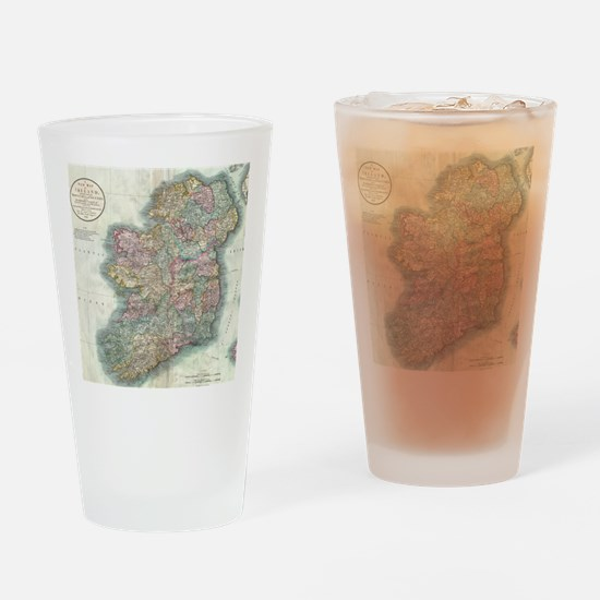 Vintage Map of Ireland (1799) Drinking Glass
