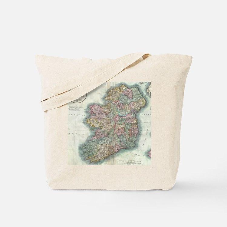 Vintage Map of Ireland (1799) Tote Bag