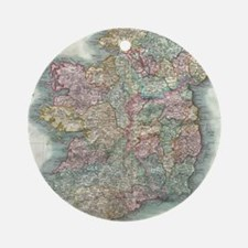 Vintage Map of Ireland (1799) Round Ornament