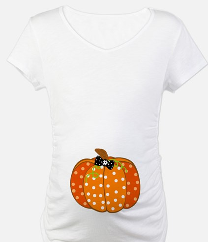 Polka Dot Pumpkin Shirt