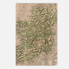 Vintage Physical Map of I Postcards (Package of 8)