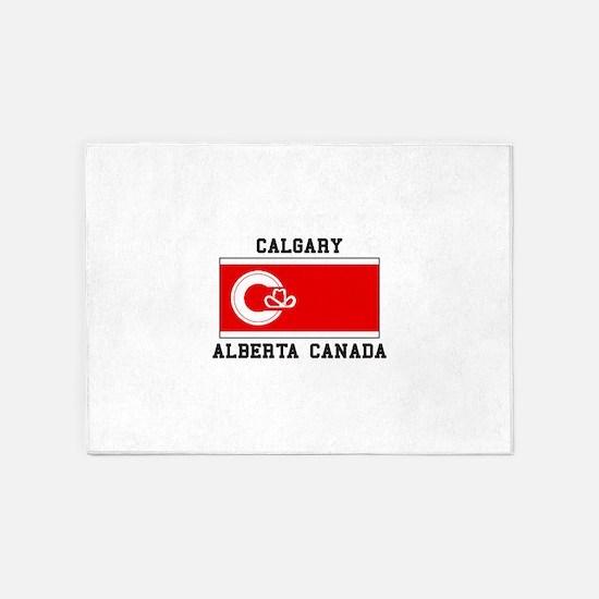 Calgary Alberta Canada 5'x7'Area Rug