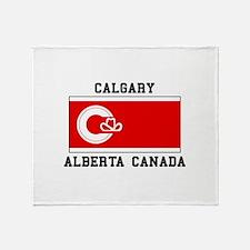 Calgary Alberta Canada Throw Blanket