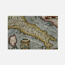 Vintage Map of Italy (1584) Rectangle Magnet