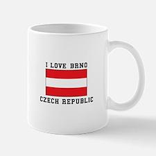 I Love Brno Czech Republic Mugs