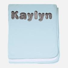 Kaylyn Wolf baby blanket