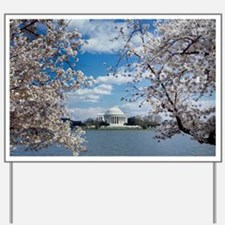 Thomas Jefferson Memorial with Cherry Bl Yard Sign
